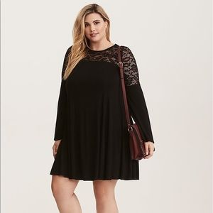 Torrid Black Dress with Lace